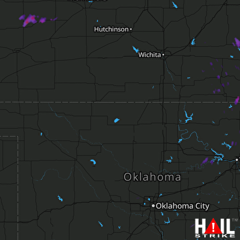 Hail Map VANCE AFB 09-17-2017