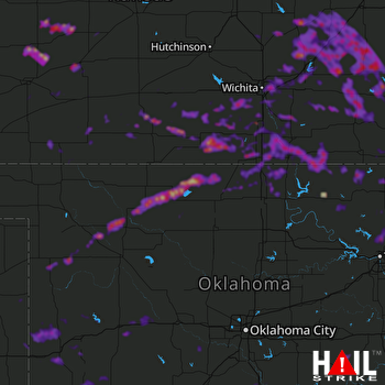 Hail Map Broken Arrow, OK 05-15-2018