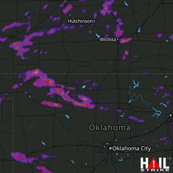 Hail Map Wichita, KS 05-30-2018