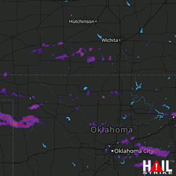 Hail Map Woodward, OK 05-31-2018