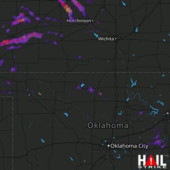 Hail Map Lyons, KS 07-29-2018
