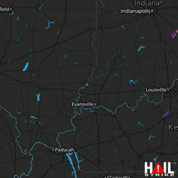 Hail Map Greensburg, IN 04-14-2019