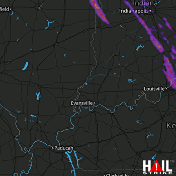 Hail Map Goshen, IN 05-17-2019