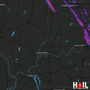 Hail Map Goshen, IN 05-17-2019
