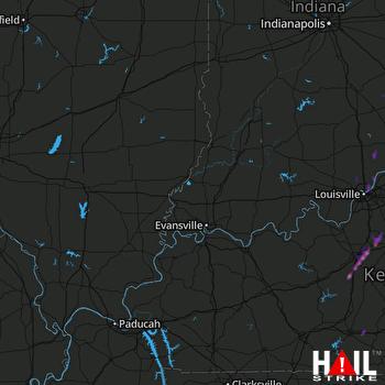 Hail Map Elizabethtown, KY 03-31-2017