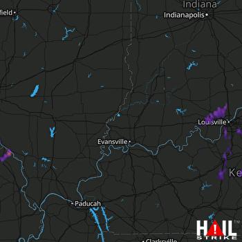Hail Map Borden, IN 06-05-2017