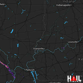 Hail Map Cape Girardeau, MO 03-24-2018