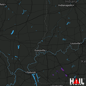 Hail Map Morgantown, KY 06-02-2018