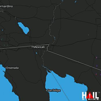 Hail Map YUMA 12-07-2018