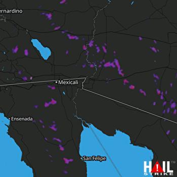 Hail Map Tonopah, AZ 09-07-2017