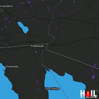 Hail Map YUMA 07-11-2018