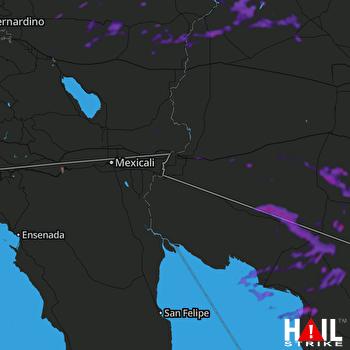 Hail Map Aguila, AZ 07-18-2018