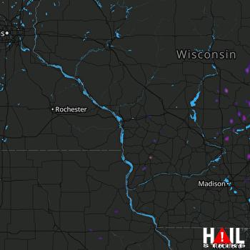 Hail Map Iola, WI 10-09-2018