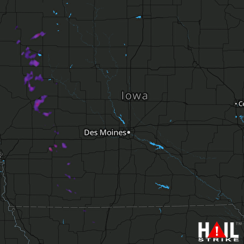 Hail Map Atlantic, IA 05-08-2017
