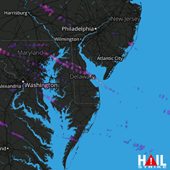 Hail Map Frederick, MD 05-26-2019