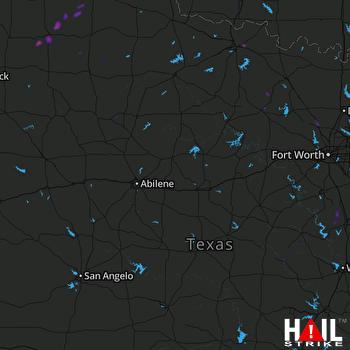 Hail Map Matador, TX 12-26-2018