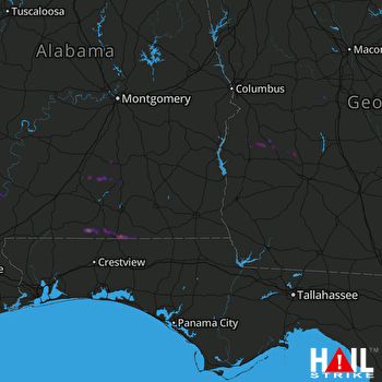 Hail Map FORT RUCKER 03-17-2018