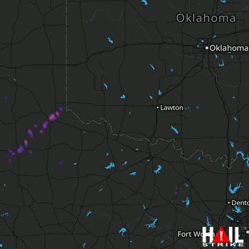 Hail Map Azle, TX 12-26-2018
