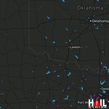 Hail Map Keller, TX 04-02-2017