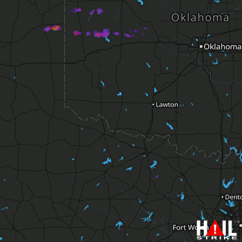 Hail Map Hammon, OK 04-04-2017