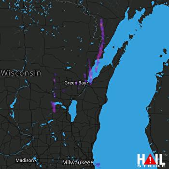 Marion Wisconsin Map.1 75 Inch Hail Near Menominee Mi 09 08 2013