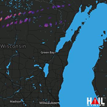 Hail Map Iron Mountain, MI 04-09-2017