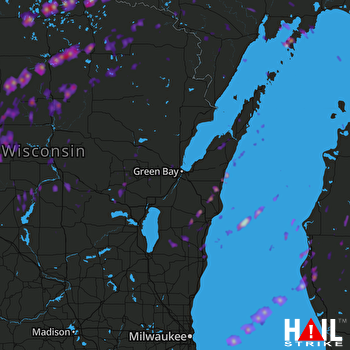 Hail Map Rhinelander, WI 04-10-2017