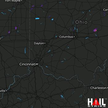 Hail Map Frazeysburg, OH 03-30-2017