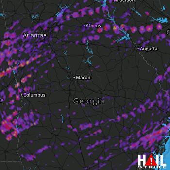 Hail Map Marietta, GA 04-05-2017