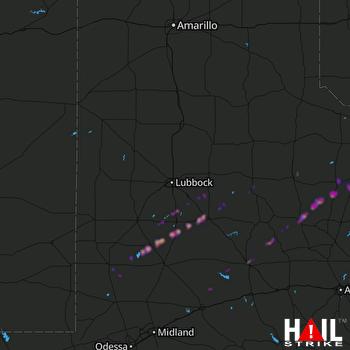 Hail Map Snyder, TX 01-25-2021