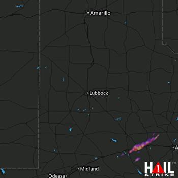 Hail Map Colorado City, TX 04-01-2017