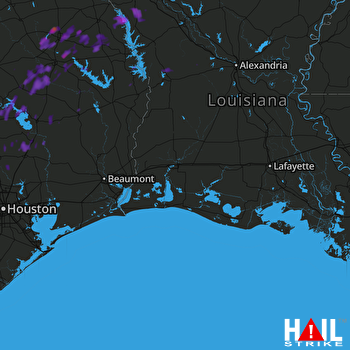 Hail Map Diboll, TX 06-04-2017