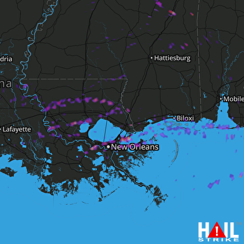 2 Inch Hail Near New Orleans La 02 07 2017