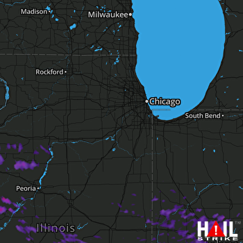 Hail Map Crawfordsville, IN 07-11-2017