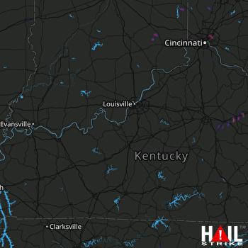Hail Map Dillonvale, OH 12-02-2018