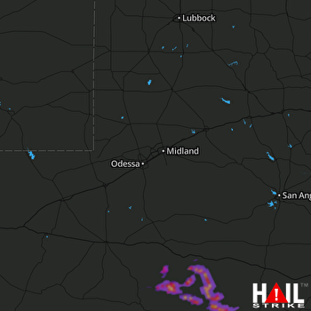 Hail Map MIDLAND/ODSSA 04-11-2017