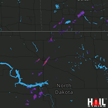 Hail Map Minot, ND 09-13-2018