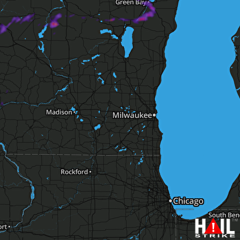 Hail Map New London, WI 09-18-2018