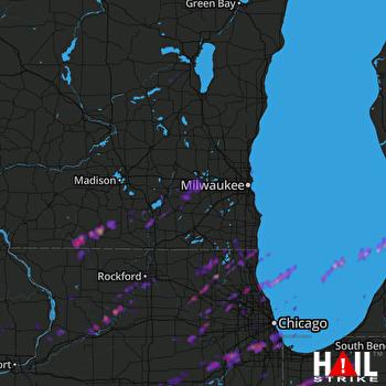 Hail Map Joliet, IL 04-10-2017