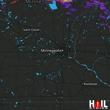 Hail Map Cloquet, MN 09-15-2018