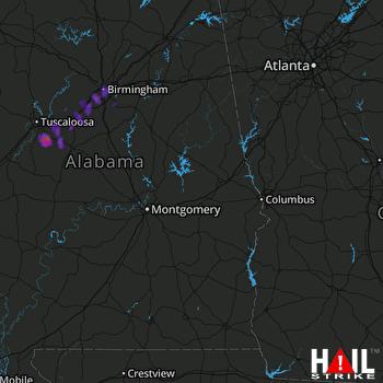 Hail Map MONTGOMERY 04-03-2017