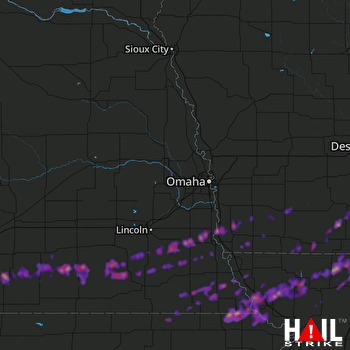 Hail Map Maryville, MO 04-10-2017
