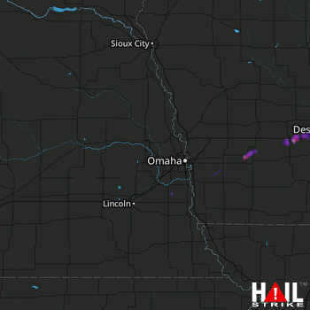 Hail Map Stuart, IA 05-10-2017