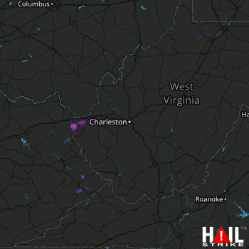 Hail Map Huntington, WV 04-11-2017