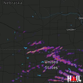 Hail Map Salina, KS 05-07-2019