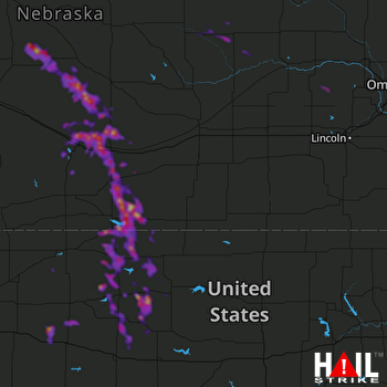 Hail Map Lexington, NE 08-08-2018