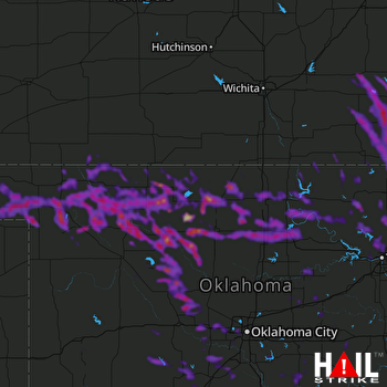 Hail Map Enid, OK 07-12-2020