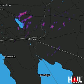 Hail Map YUMA 10-13-2018